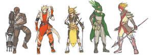 Gijinka sketches