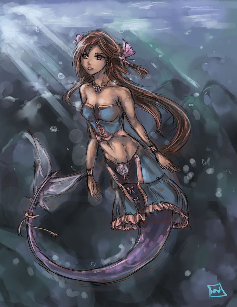 Mermaid speedpaint by bulletproofturtleman