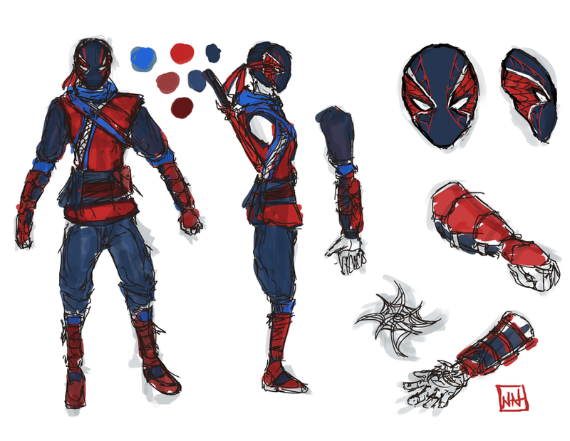 Ultimate spider man game concept art