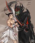 Samurai Jack vs aku sketch