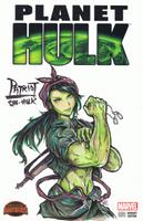 Patriot She-Hulk Sketch Cover by bulletproofturtleman