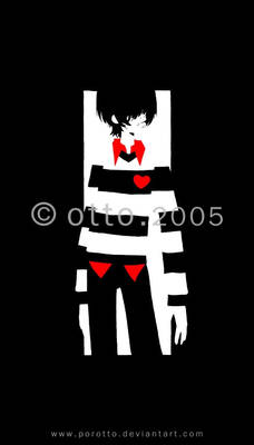 striped emo boy
