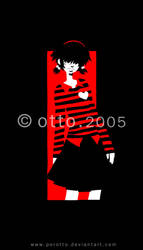 striped emo girl by porotto