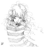 girl with messy hair by porotto