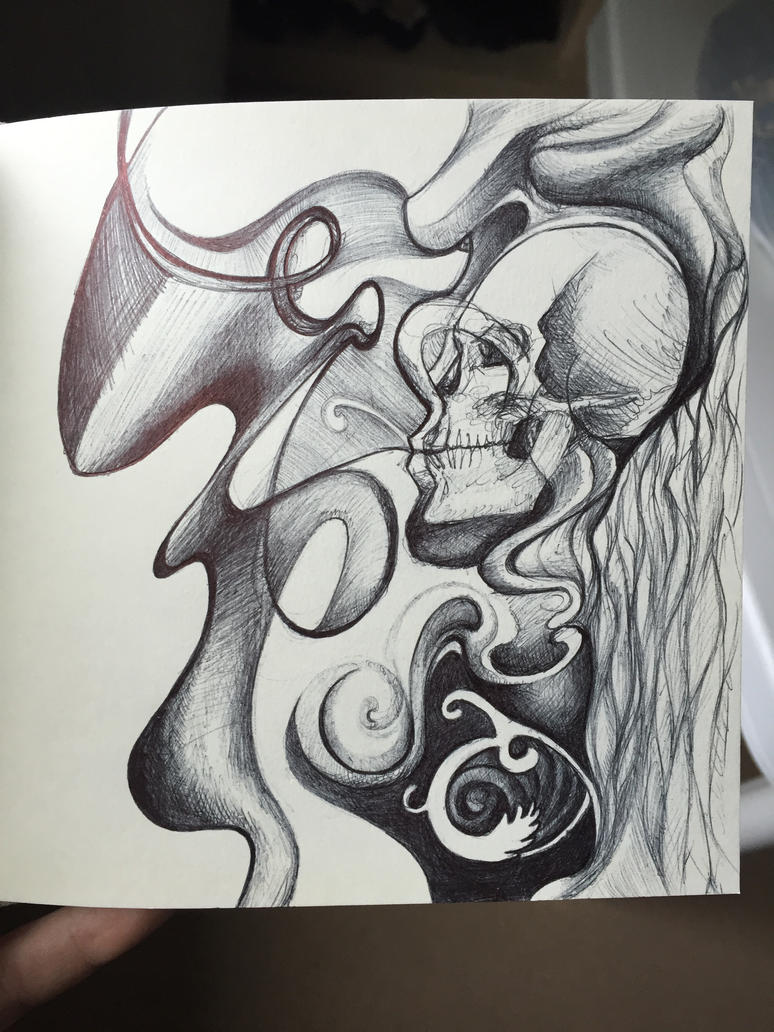 Abstract with skull by soozlillend