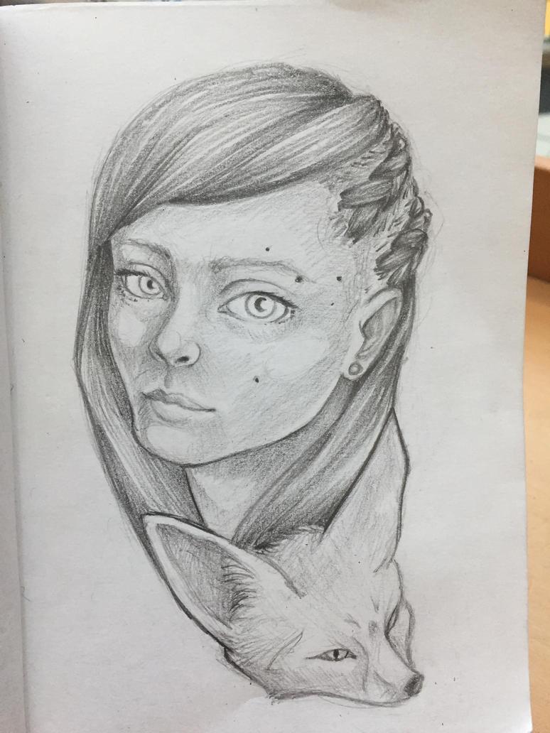 Fennec fox lady by soozlillend