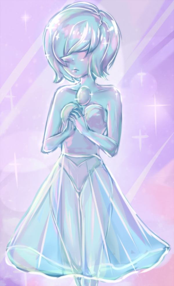 Fan art of Blue Diamond's Pearl from Steven Universe Episode 74 The Answer More Steven Universe fan art! v Blue Pearl Petals // Just a Comet --- You can watch me speed paint this here:&nb...