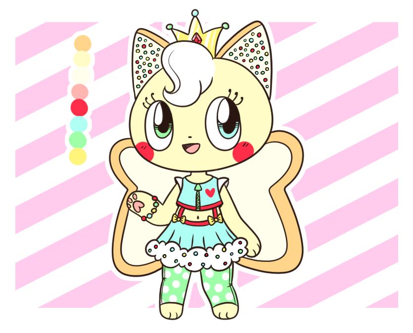 Fairy Bread Feline Adopt (CLOSED) by Tamatanium