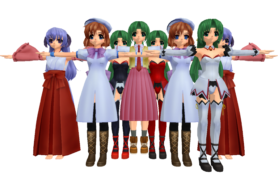 Mmd Newcomers From Higurashi By Anime Base Creator On