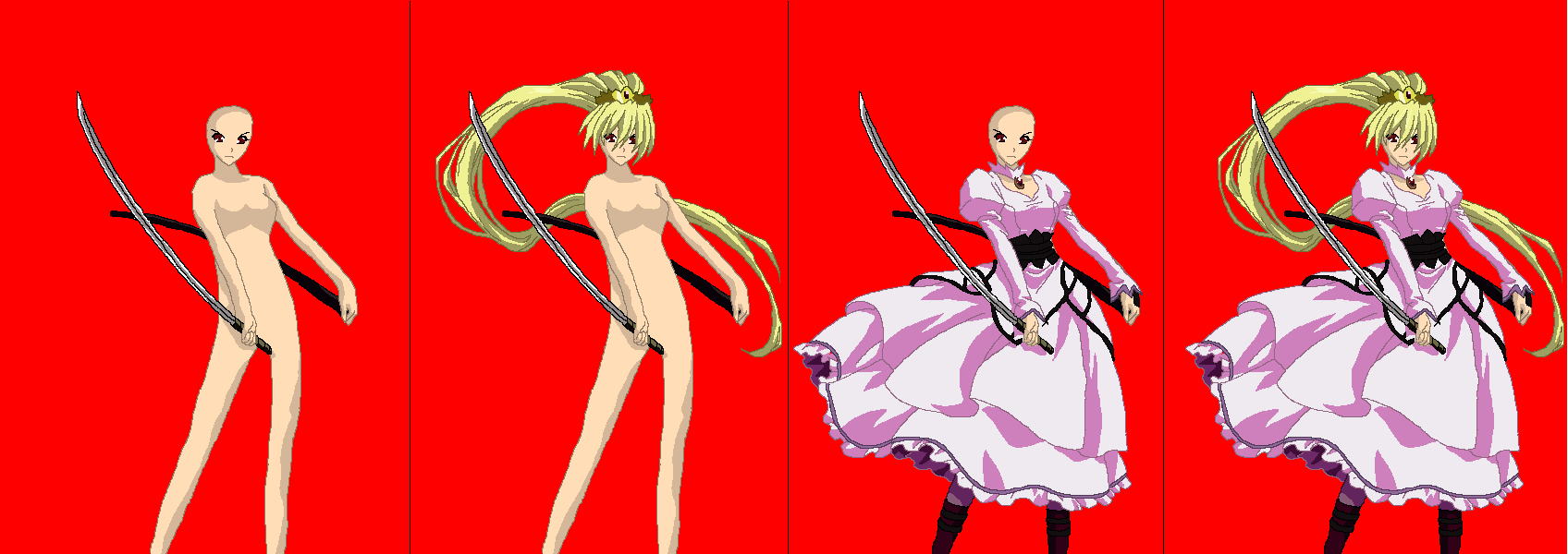 Sword Princess Base by Anime-Base-Creator