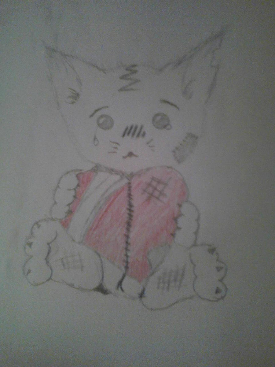 Hurt Kitten by Bloodonmyhands25