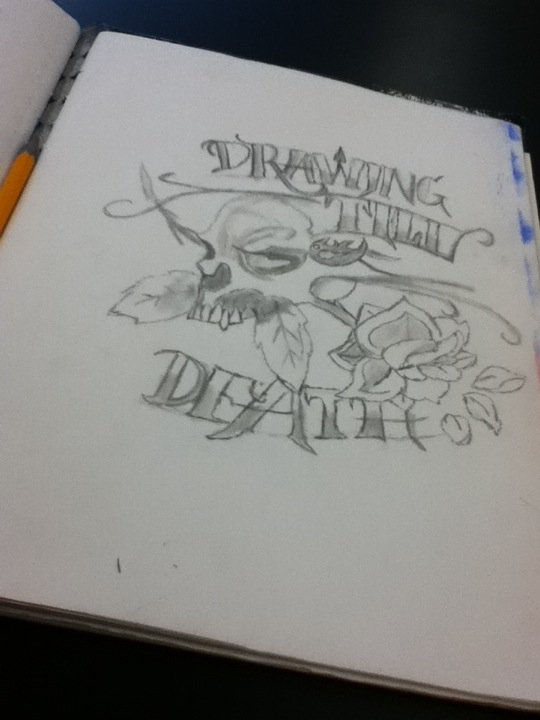 Drawing Till Death by Bloodonmyhands25