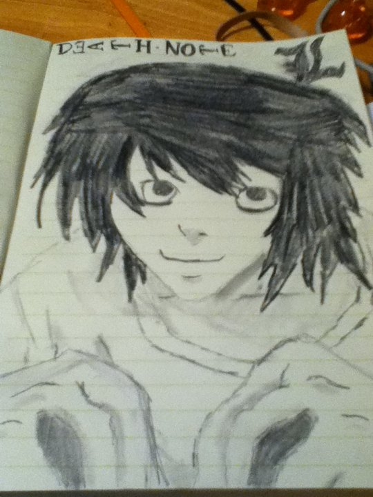 L from Death Note by Bloodonmyhands25
