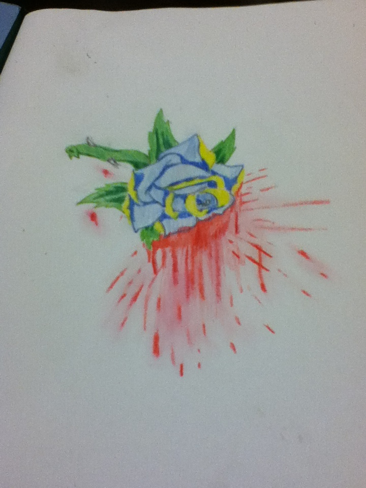 Exploding Rose by Bloodonmyhands25