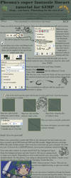 Lineart tutorial for GIMP by pheona