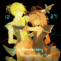 7th Anniversary Rin and Len by SynZiac