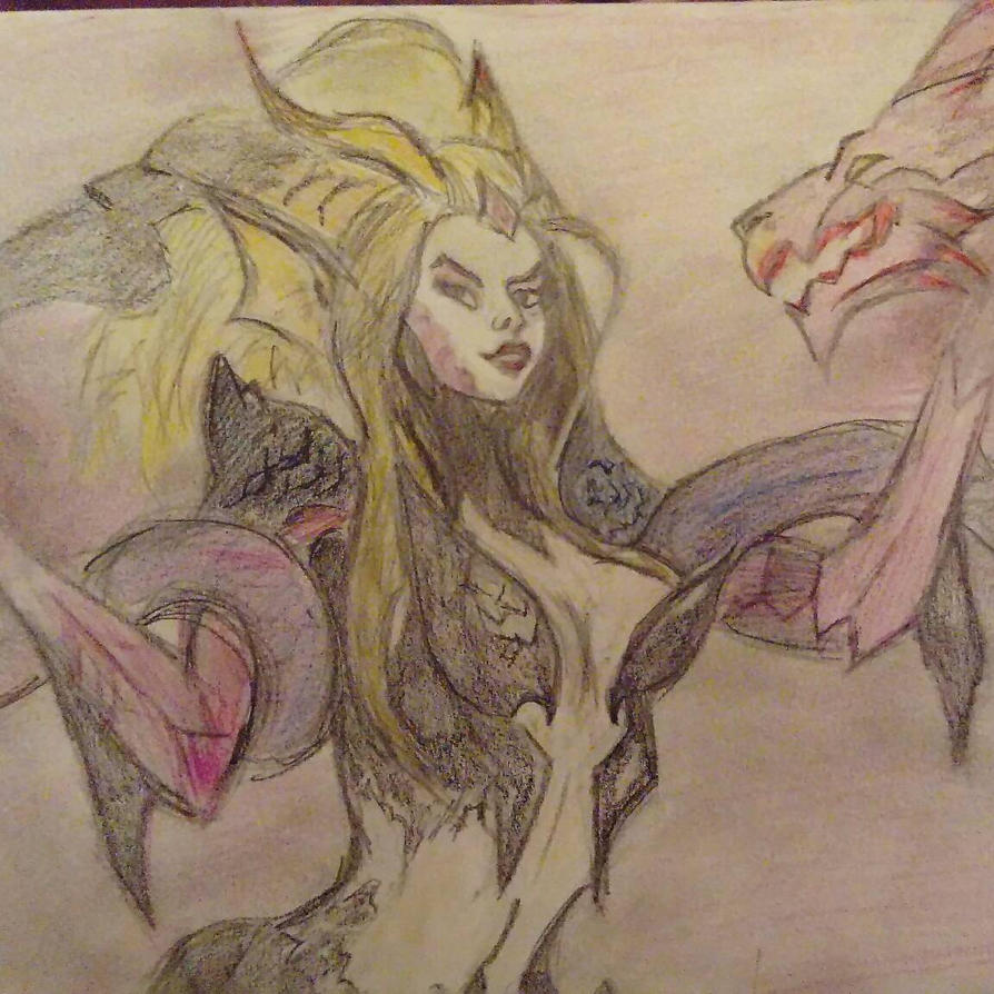 Zyra mother's dragons by malyoke