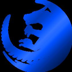 Aryn logo - metallic blue