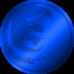 Aryn coin - metallic blue