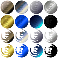 a bunch of dragoncoins and dragonlogos