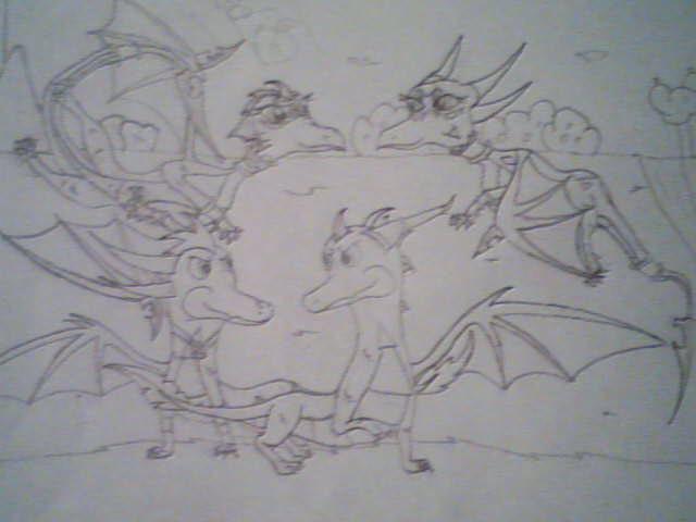 BFF dragon's reunion by SighriaDragoness12