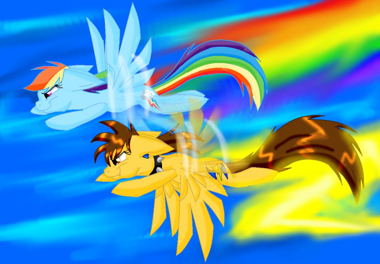 rainbow dash vs lighting - photo #19