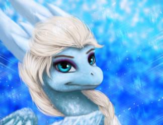 Elsa Da Dragoness by vdragoness