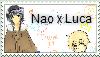 Nao x Luca stamp by Aekamii