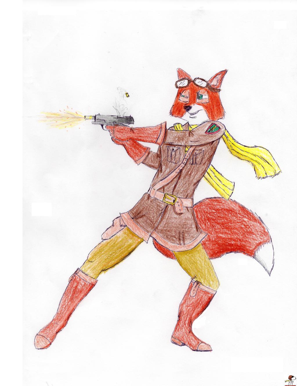 Maria Takes Aim by TheWWIflyingace