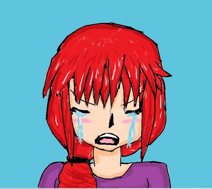 Anime girl crying (made in paint xD) by hamimary on DeviantArt