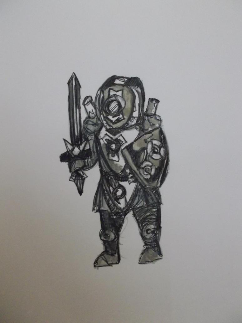 Robot knight by 1danterocks