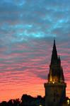Rainbow Sunset and Tower