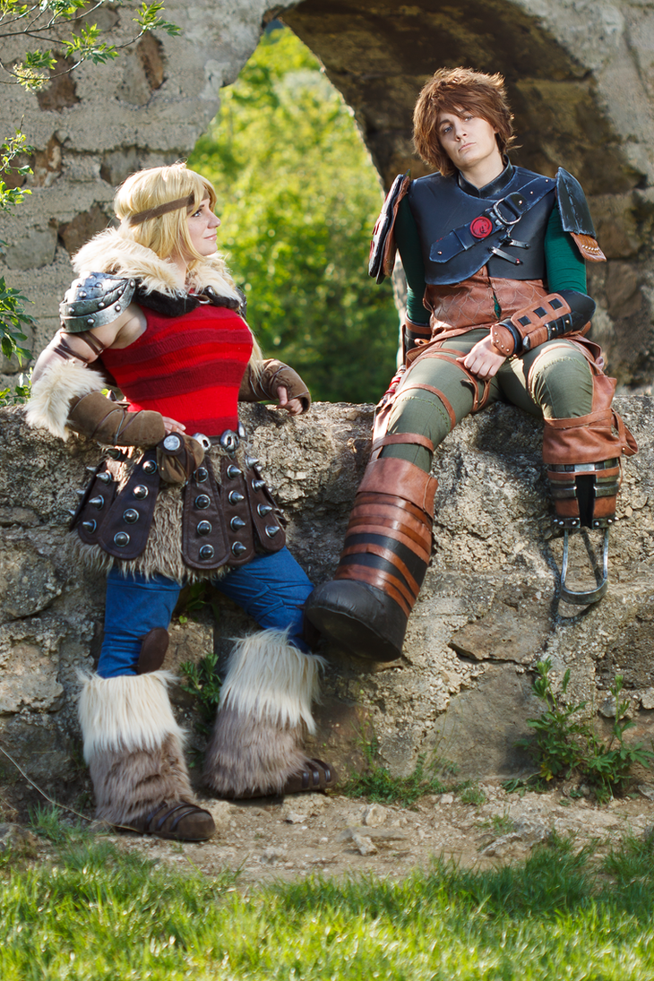 Hiccup and Astrid by Aoime