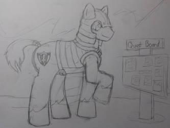 Pony on a Quest Sketch - EqD ATG Day 9