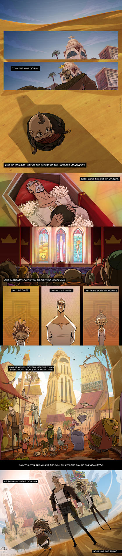 NOMADE - Comic pages by Spagnolo