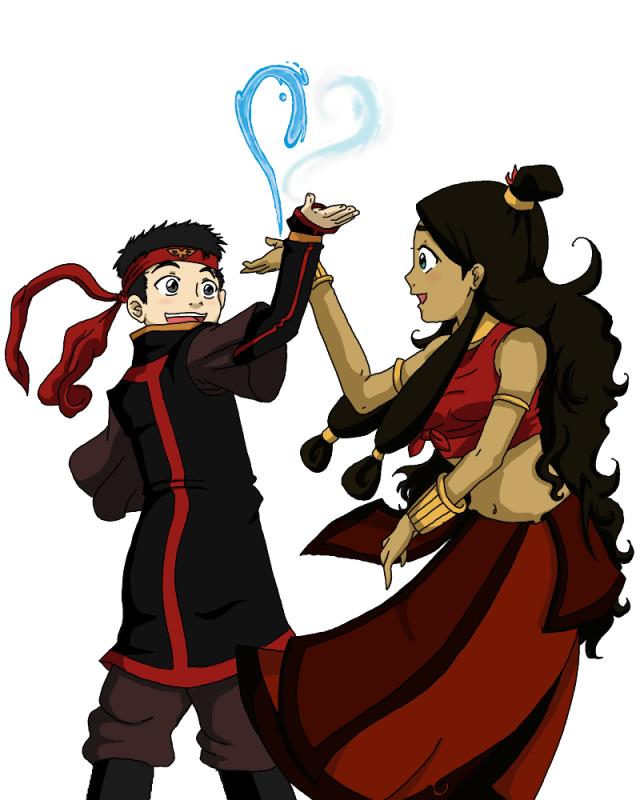 Avatar Aang With Hair: Kataang By Digiko On DeviantArt