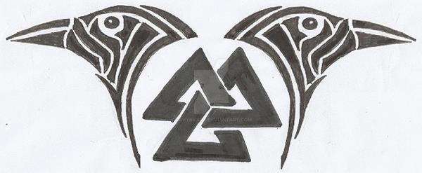 Valknut explore valknut on deviantart for Valknut symbol tattoo