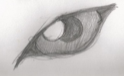 Wolf Eye Sketch by ravynkatt