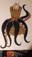 Steampunk Octopus dress art challenge