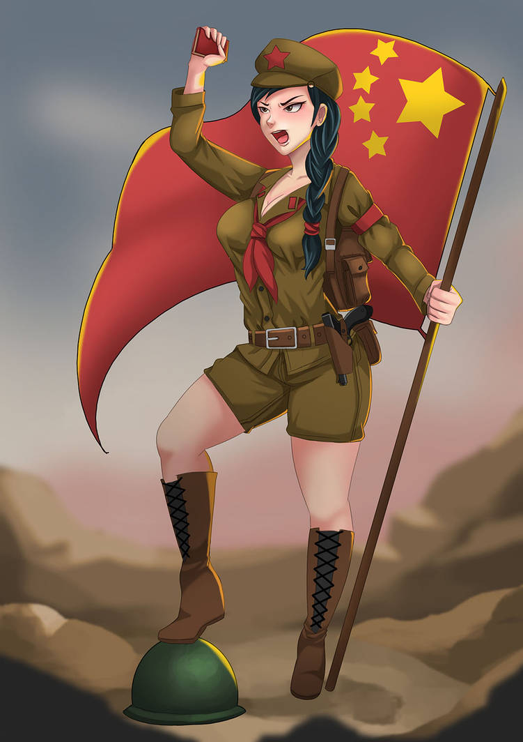 Communist Girl commission by Senturi 17 by Harryasaboy