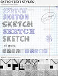 Sketch Text Styles
