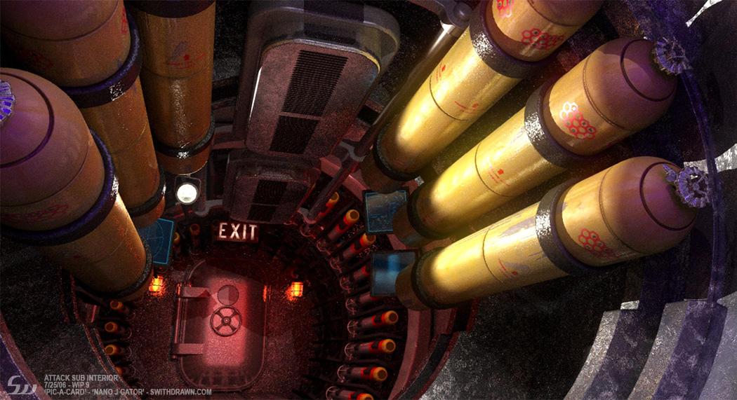 Attack Submarine Interior By Swithdrawn ...