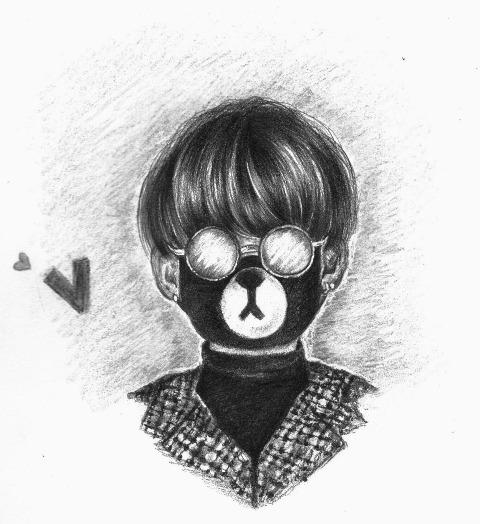 Tae Tae Bear by BrokenViolet