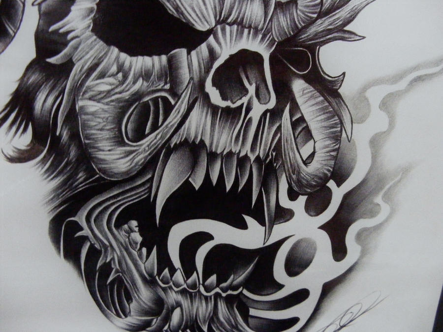 Smoke Skull Tattoos Skull smoke dead   500 x 500