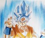 Goku SsjGodSsj by Pandaroszeogon
