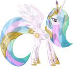 Crystal Princess Celestia vector