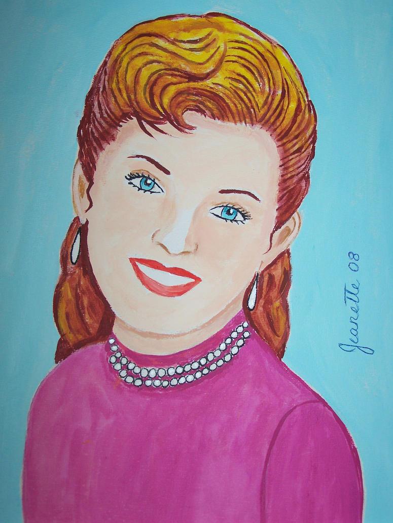 Portrait of Debbie Reynolds by Nettiefriend