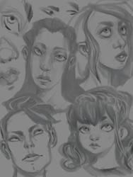 faces by Kaeiryska