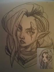 Eye tattoo girl by Kaeiryska