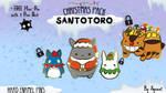 Santa Totoro Pack (Enamel Pins) Kickstarter Live! by agonatart